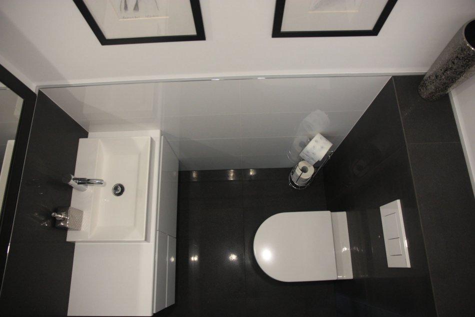 Tomasz L 1 Galeria Aranżacja Małej łazienki W Białym I Czarnym