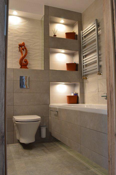 łazienka uczestnika Konkursu - półki wnękowe