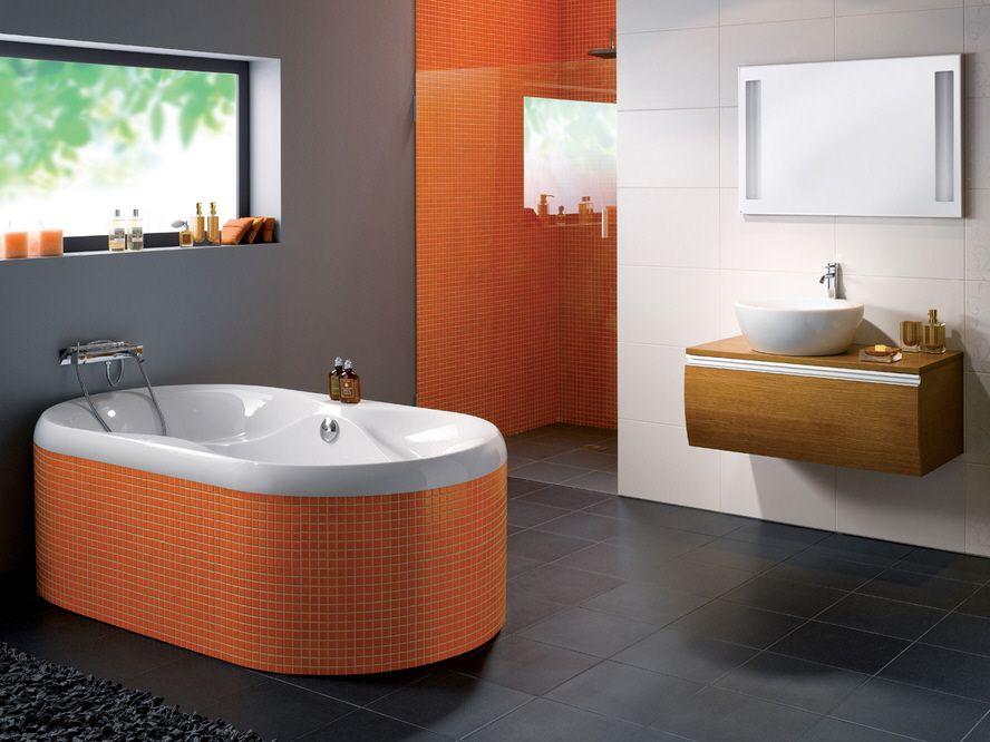 Dwukolorowa łazienka Galeria Dwa Kolory W łazience