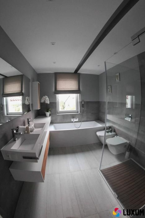 Szara łazienka Style W łazience Lazienkowypl