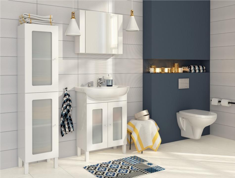 Łazienka w stylu skandynawskim - meble Cersanit z kolekcji Arteco