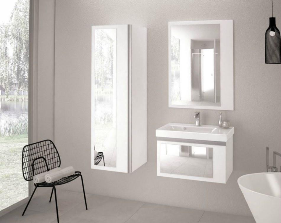 Sanitti - Meble łazienkowe z kolekcji Arizona z lustrem na frontach
