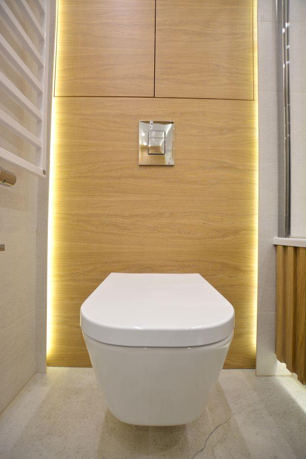 Zabudowa stelaża WC z oświetleniem LED