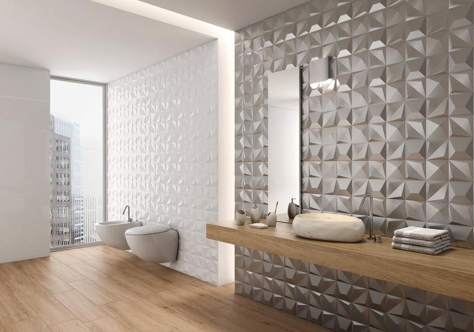 Płytki Z Efektem 3d Sposób Na Niebanalną łazienkę Płytki