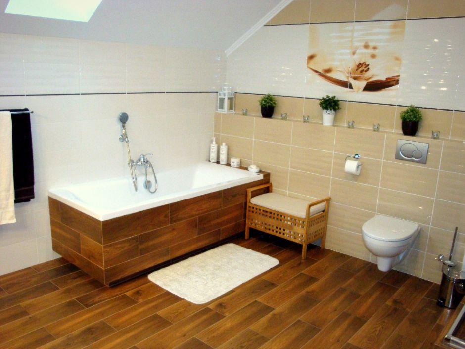Galeria Zdjęć Zdjęcie Płytki Drewnopodobne W łazience