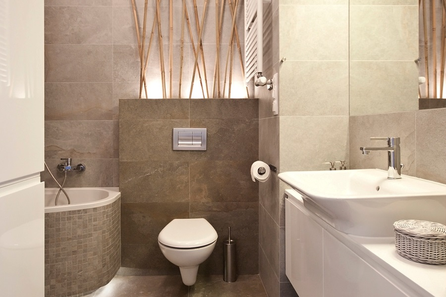 Aranżacje łazienek W Bloku Galeria Beżowa łazienka W Bloku