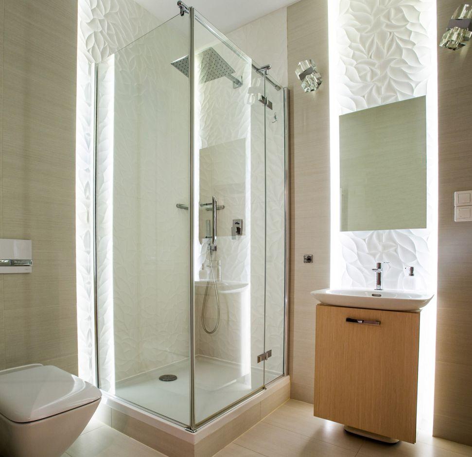 Galeria Zdjęć Zdjęcie Białe Płytki 3d W łazience W Bloku