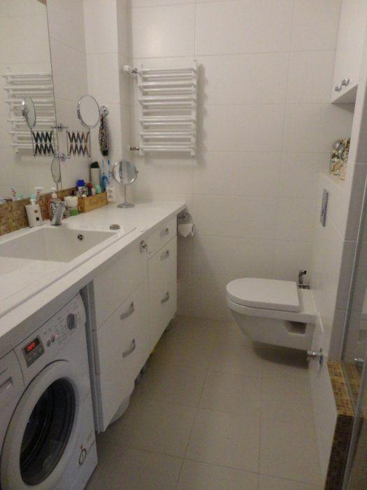 Aranżacje łazienek W Bloku Galeria Aranżacja Wąskiej łazienki W