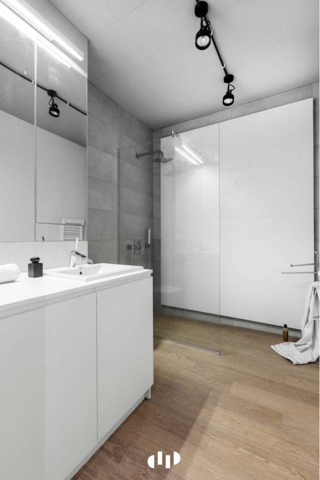 Galeria Zdjęć Zdjęcie Szary Beton Na ścianie W łazience W