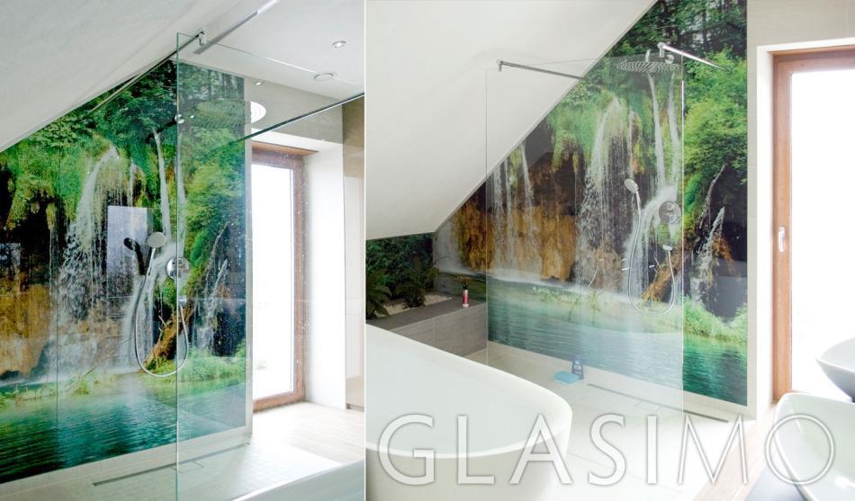 Aranżacja łazienki ze szkłem Glasimo