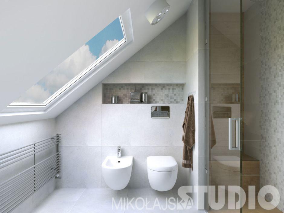 Galeria Zdjęć Zdjęcie Biała łazienka Na Poddaszu