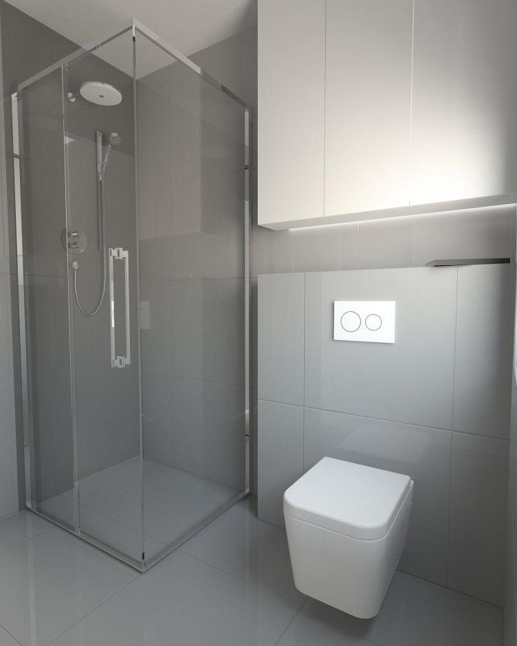 Galeria Zdjęć Zdjęcie Biało Szara Mała łazienka