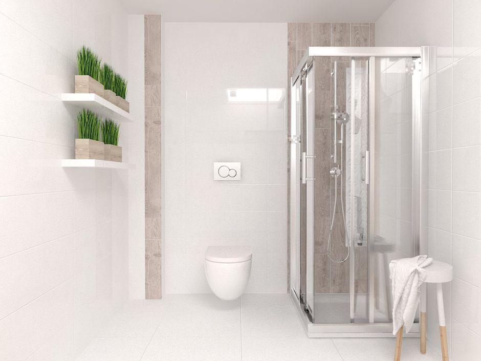 Galeria Zdjęć Zdjęcie Mała Biała łazienka Z Kabiną