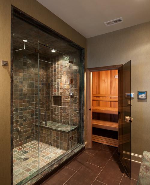 Galeria Zdjęć Zdjęcie łazienka Z Sauną I Prysznicem