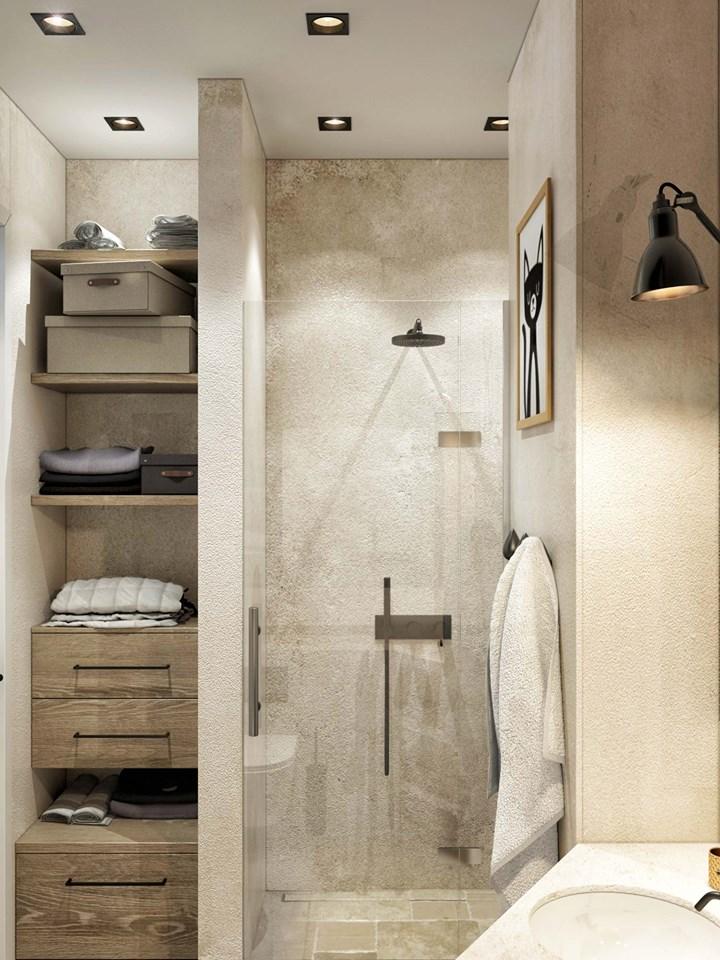 Mała łazienka Dla Dzieci Galeria Mały Prysznic We Wnęce W