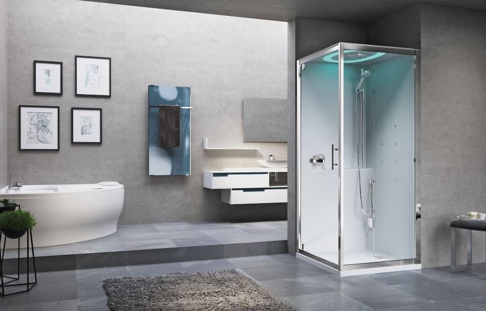 Eon GF90 hammam - kabina narożna multifunkcyjna z sauną - Novellini