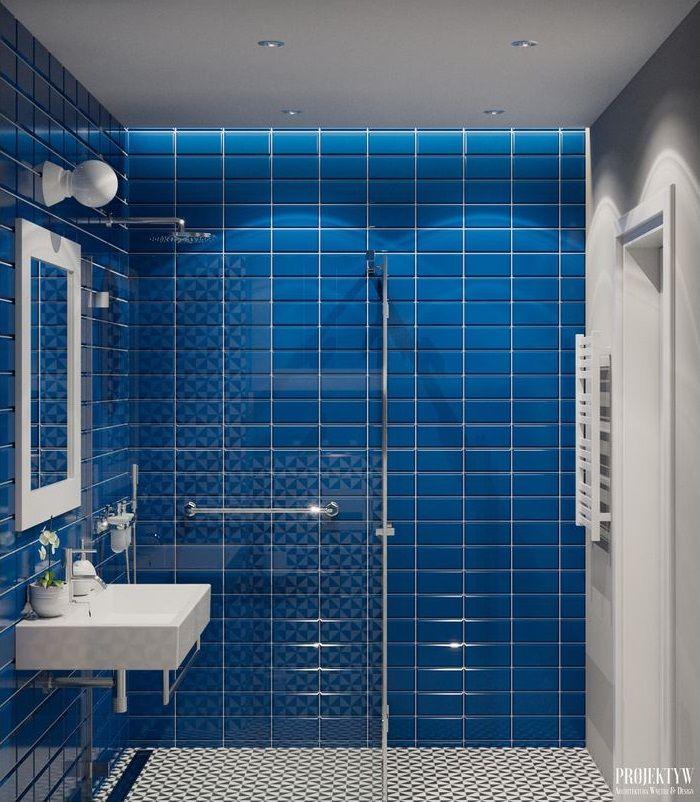 Galeria Zdjęć Zdjęcie Niebieskie Kafle W Małej łazience W