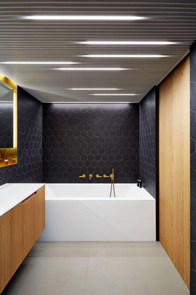 Galeria Zdjęć Zdjęcie Biało Czarna łazienka Z Elementami