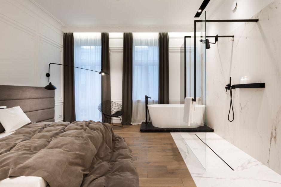 Galeria Zdjęć Zdjęcie Duża Sypialnia Z Wanną I Prysznicem