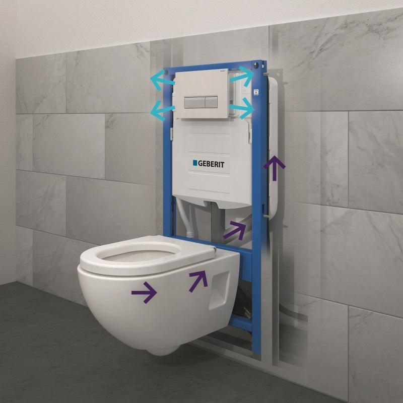 Geberit Duo Fresh Duofix - stelaż do WC z usuwaniem zapachów