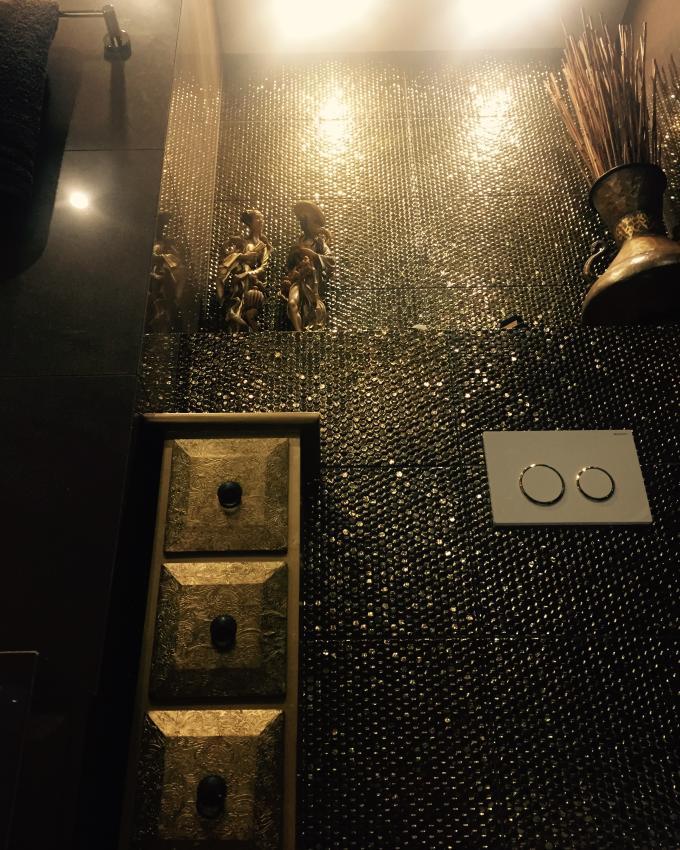 Galeria Zdjęć Zdjęcie Płytki ścienne Ze Złotym Połyskiem