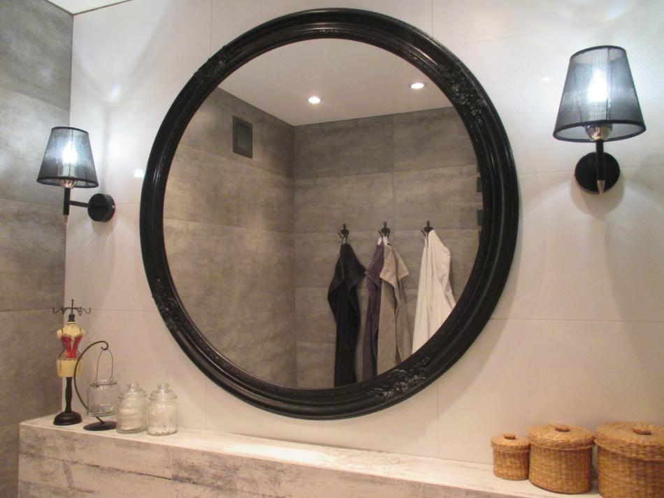 Galeria Zdjęć Zdjęcie Okrągłe Lustro łazienkowe W Czarnej