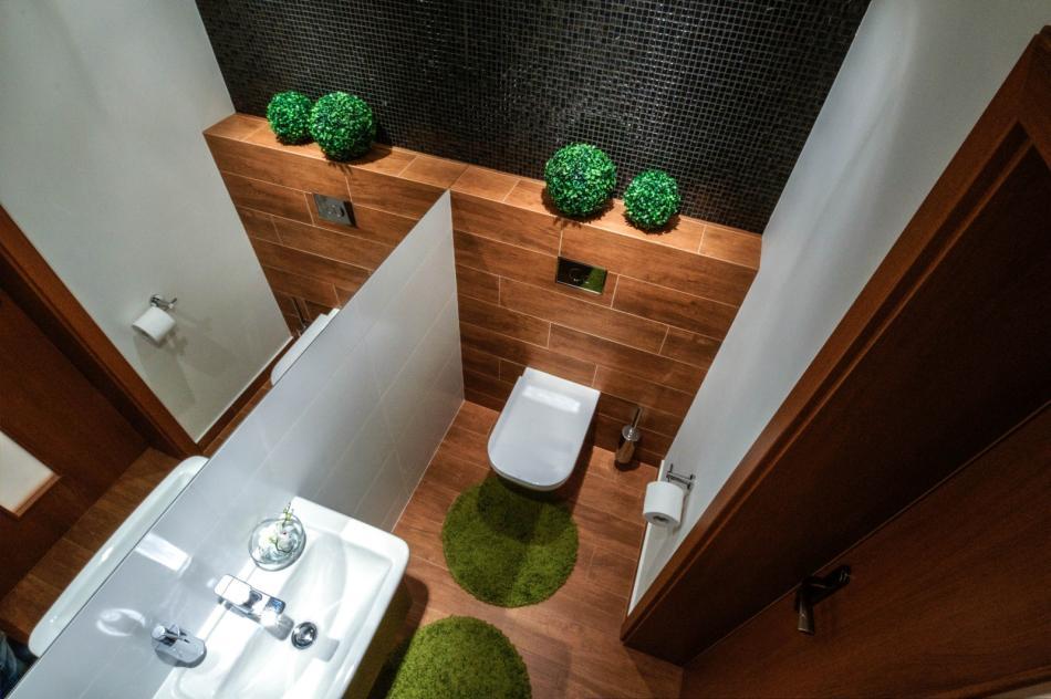 Galeria Zdjęć Zdjęcie Mała łazienka W Drewnie I Bieli Z