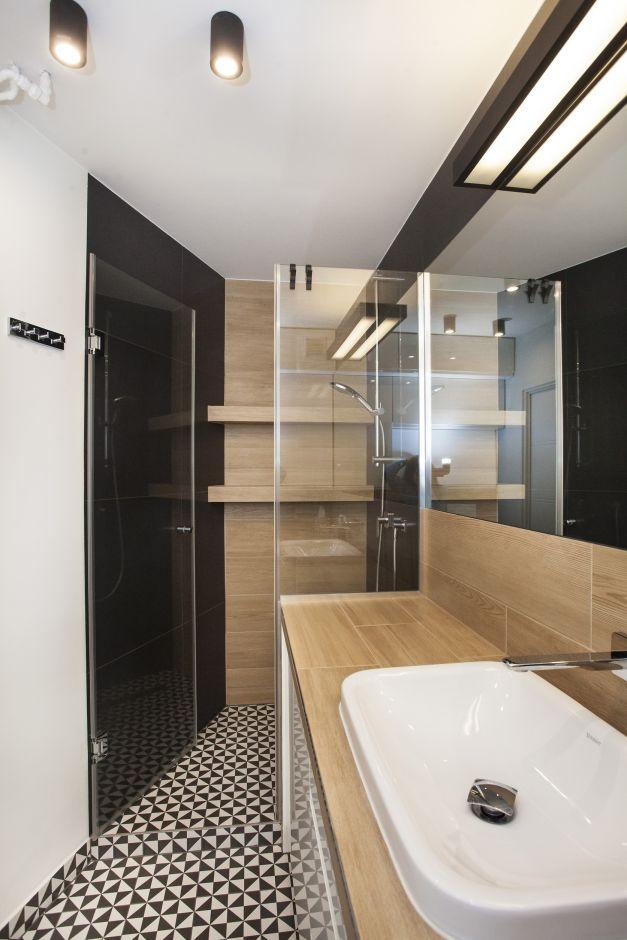 Galeria Zdjęć Zdjęcie Wąska łazienka W Trzech Kolorach