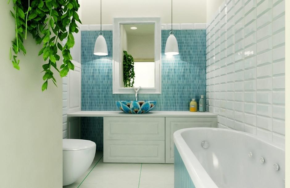 Galeria Zdjęć Zdjęcie Biało Turkusowa łazienka Wszystko