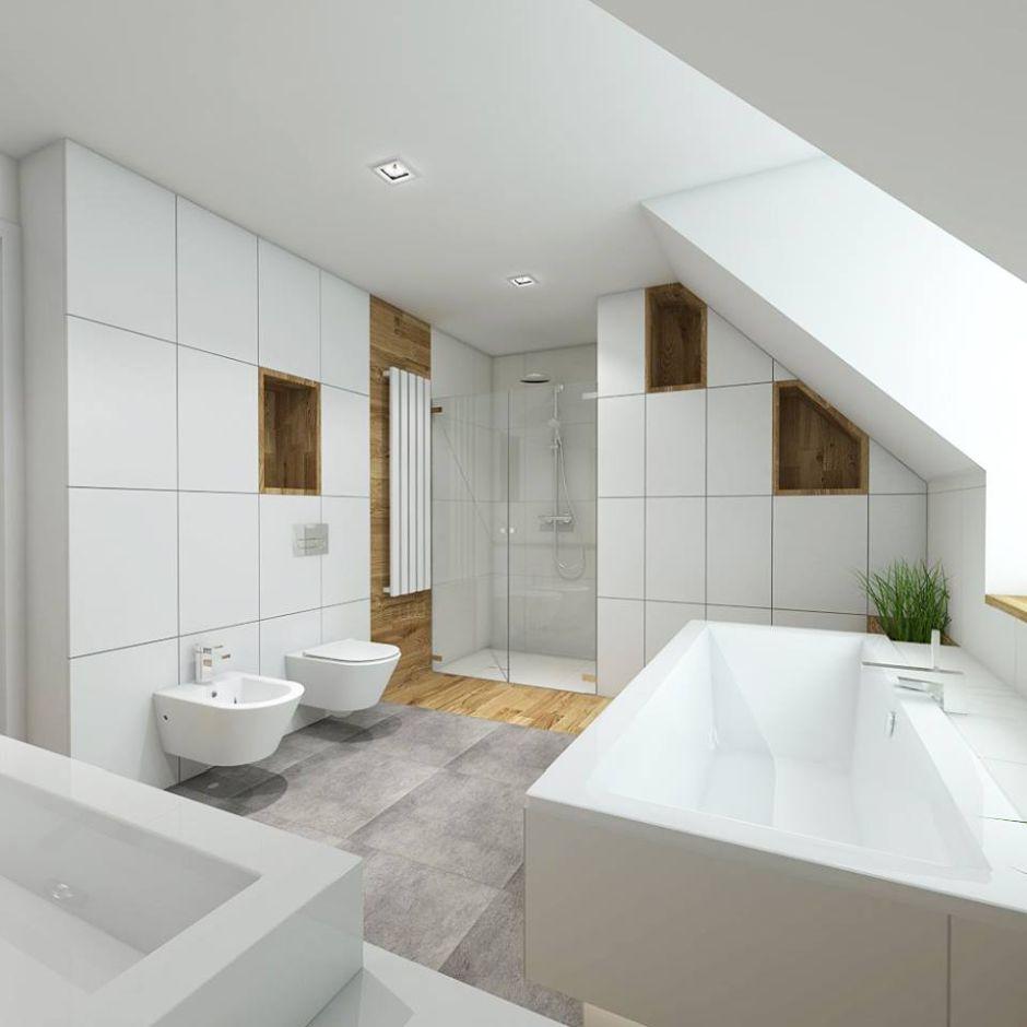 łazienka W Stylu Nowoczesnym Galeria Prysznic We Wnęce W Dużej