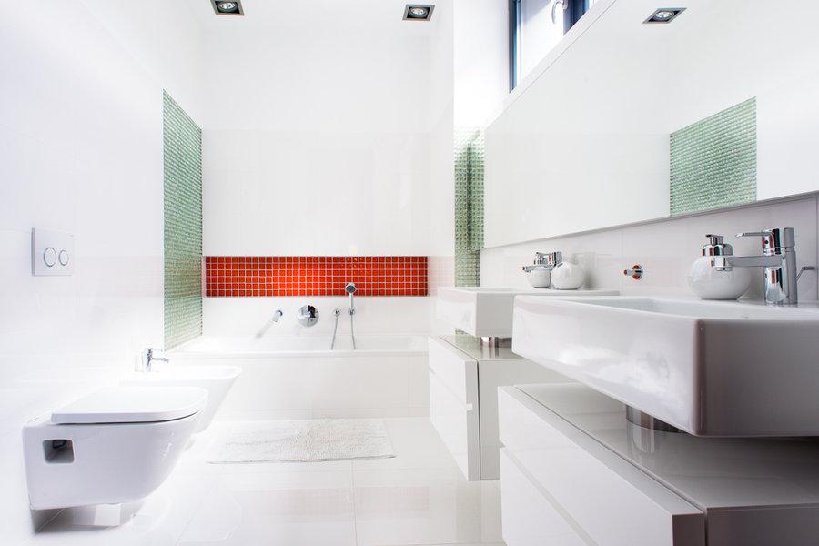 Galeria Zdjęć Zdjęcie Zielona Mozaika Na ścianie W Białej