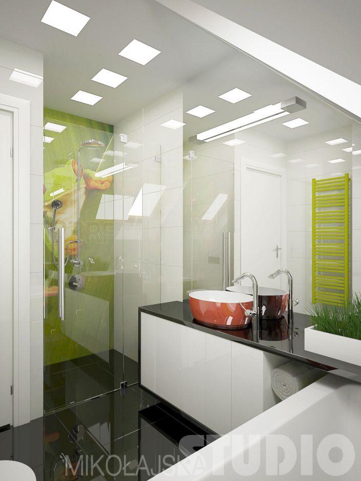 łazienka W Stylu Nowoczesnym Galeria Fototapeta Pod Prysznicem W