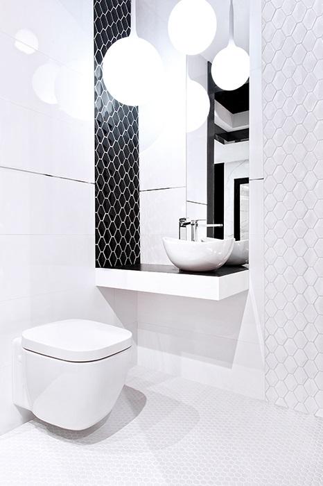Mozaika w łazience - płytki heksagonalne - DUNIN