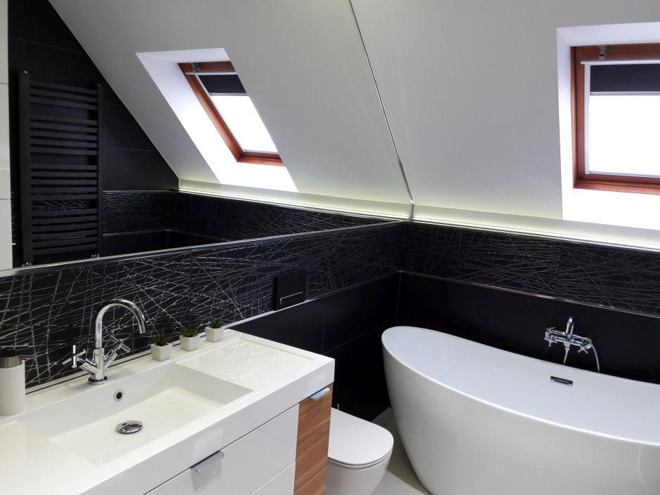 Galeria Zdjęć Zdjęcie Duże Lustro łazienkowe Na Scianie W