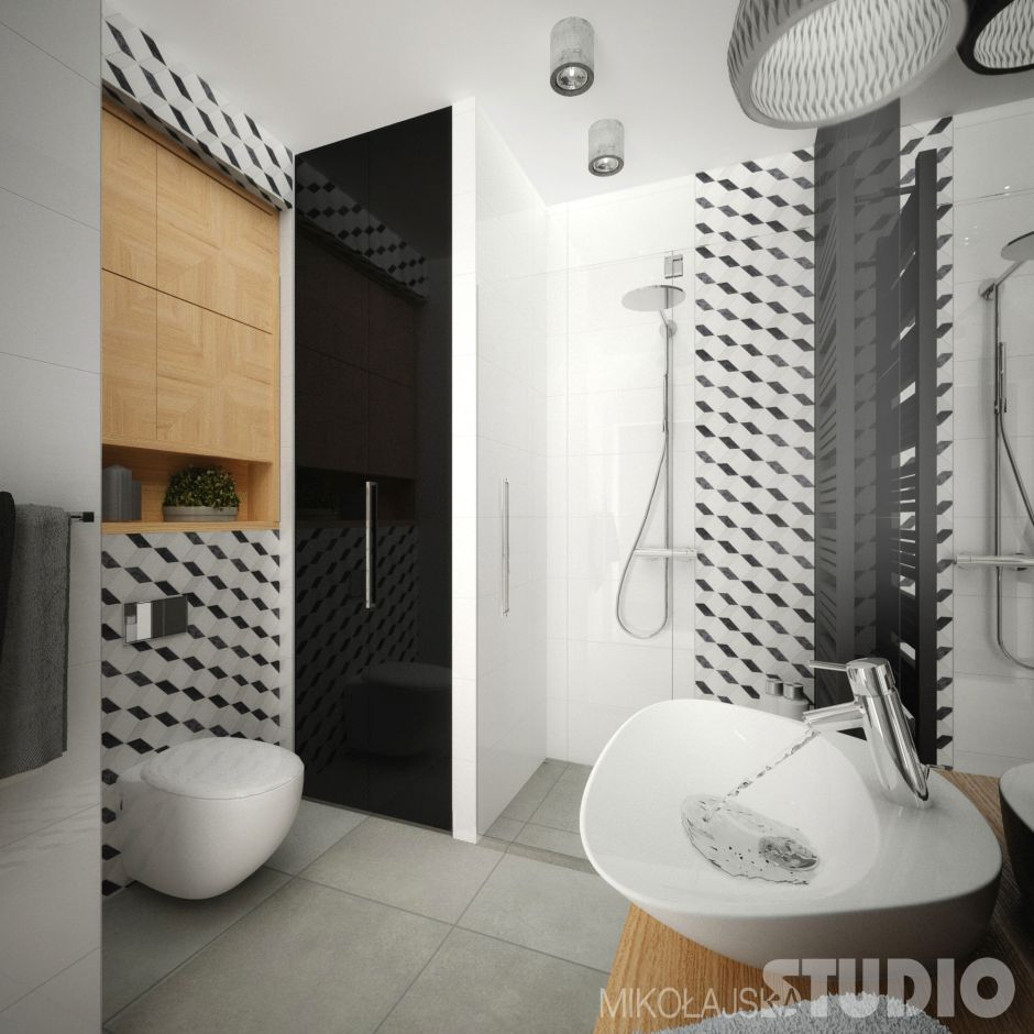 łazienka W Stylu Nowoczesnym Galeria Płytki Ceramiczne Z Efektem
