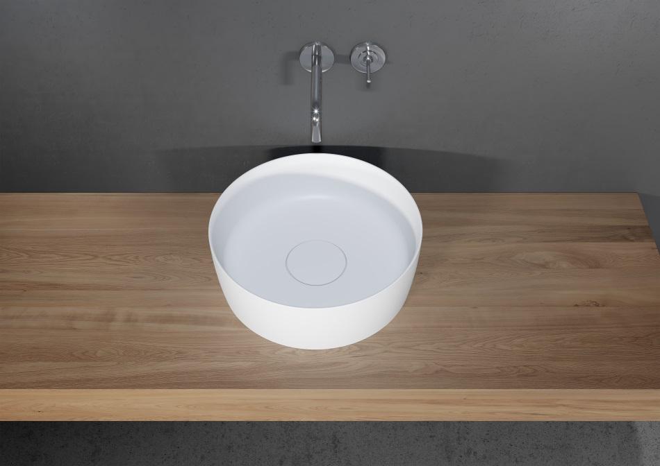 Riho - umywalka Thin z serii Solid Surface 2.0 (okrągła)