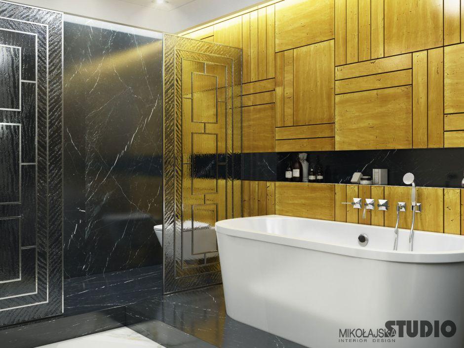 Galeria Zdjęć Zdjęcie Złote Płytki Na ścianie W łazience