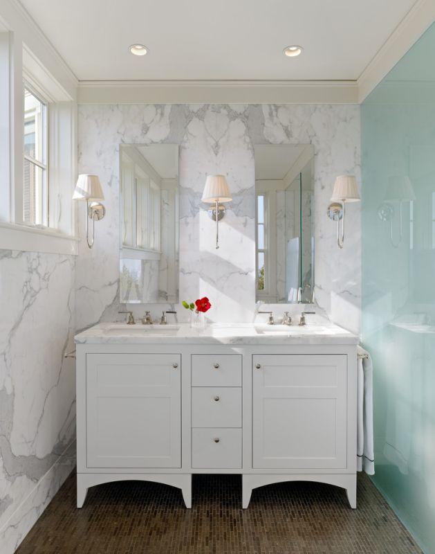 Galeria Zdjęć Zdjęcie Mała łazienka Z Marmurem I Dwiema