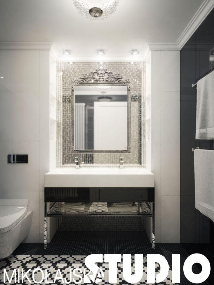Galeria Zdjęć Zdjęcie łazienka Glamour Ze Srebrną Mozaiką