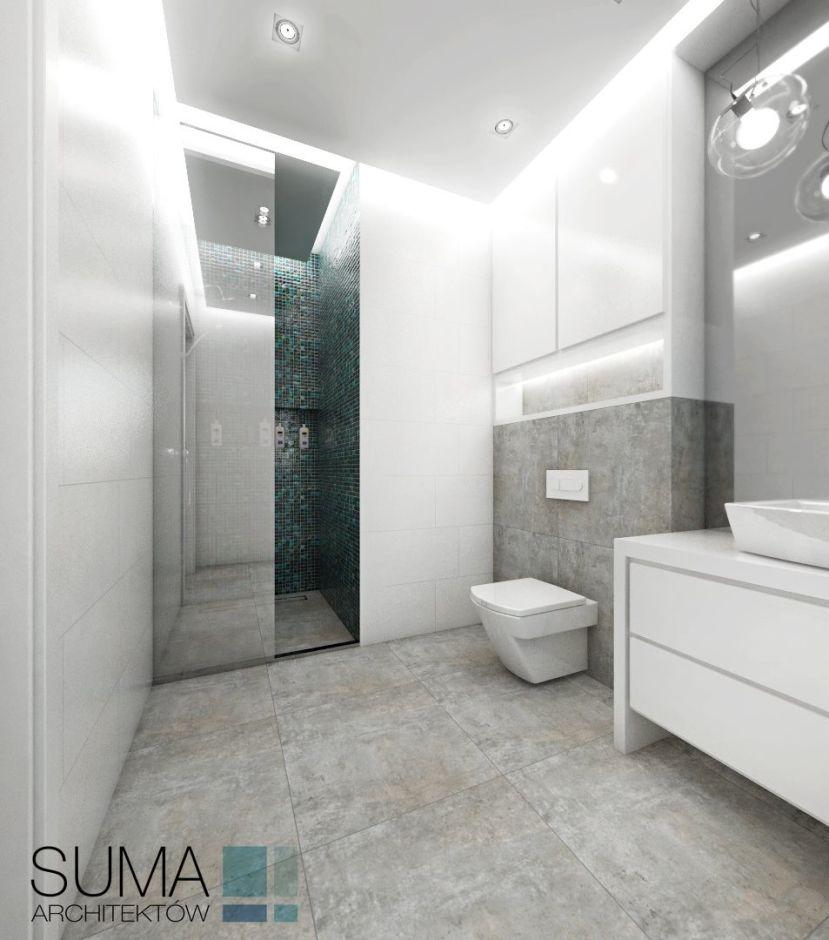 Mozaika W łazience Galeria Prysznic We Wnęce Z Zieloną Mozaiką