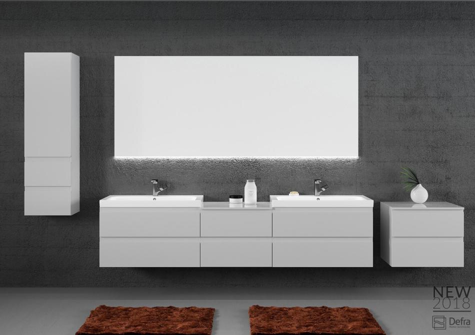 Kolekcja Como Defra lakier popiel połysk - meble łazienkowe