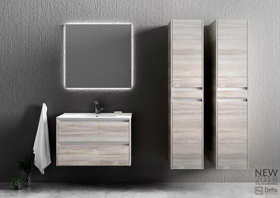 Kolekcja Fonte Defra dekor dąb szary - meble łazienkowe