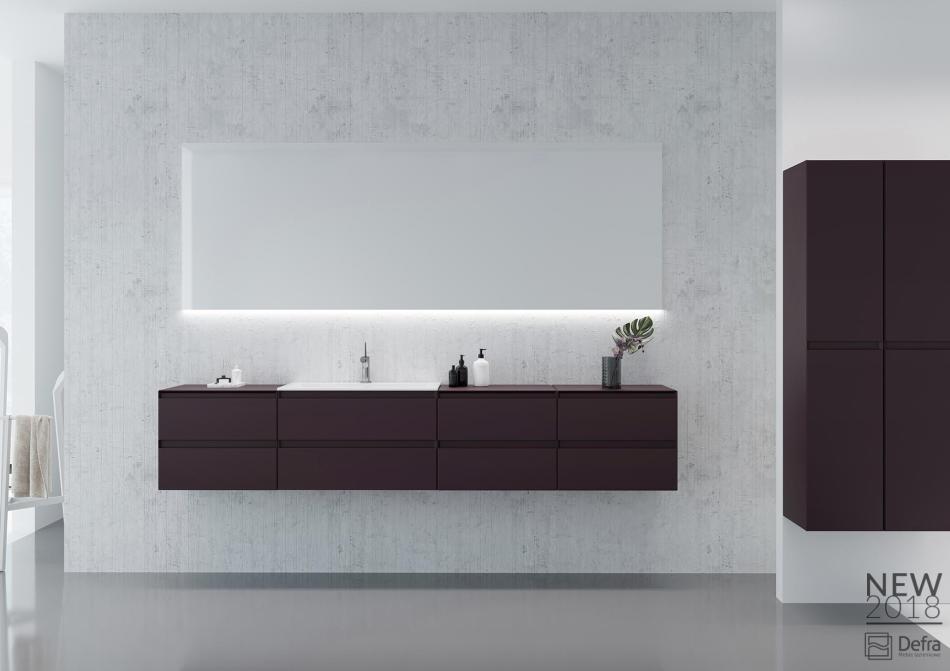 Kolekcja Guadix Defra Top lakier burgund mat - meble łazienkowe