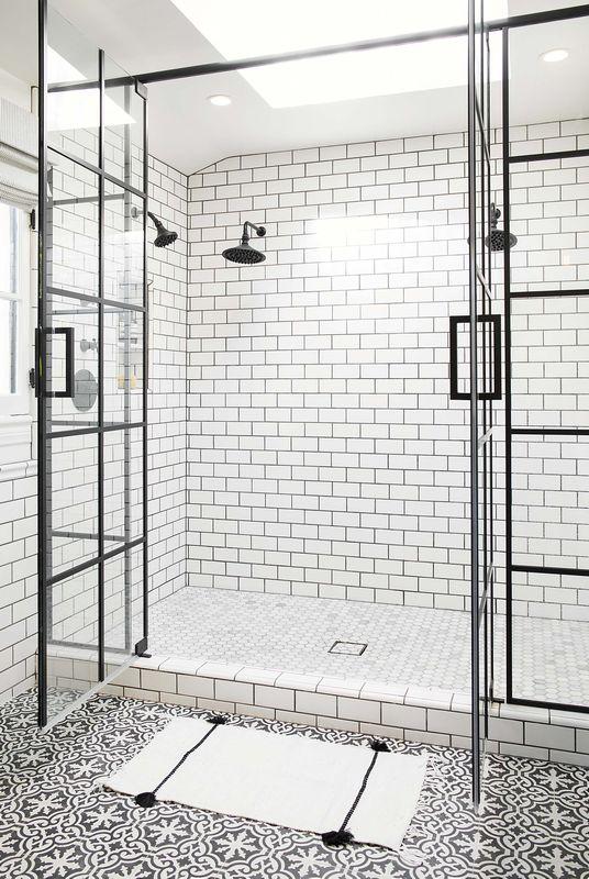 Marokańskie Płytki W łazience Galeria Duży Prysznic W Stylu