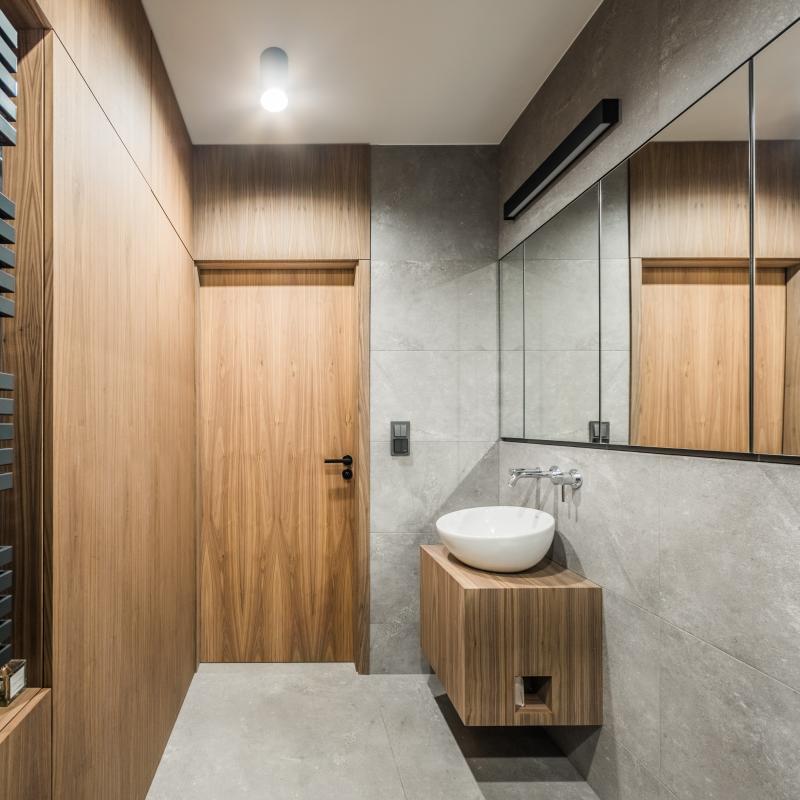 Galeria Zdjęć Zdjęcie łazienka Beton I Drewno