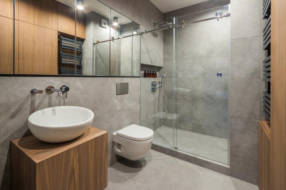 Galeria Zdjęć Zdjęcie Beton I Drewno W łazience