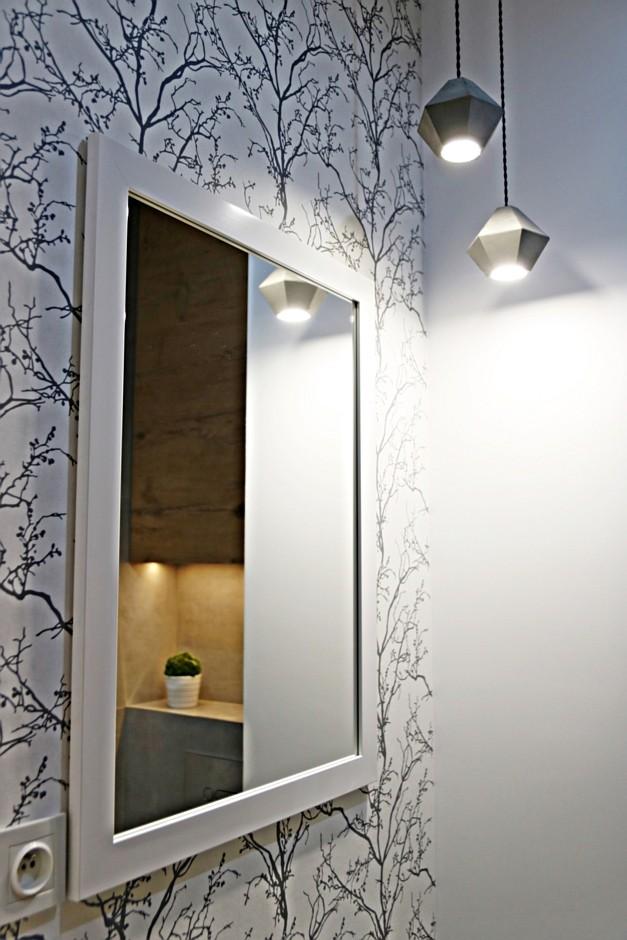 Galeria Zdjęć Zdjęcie Lustro W Białej Ramie W łazience Z