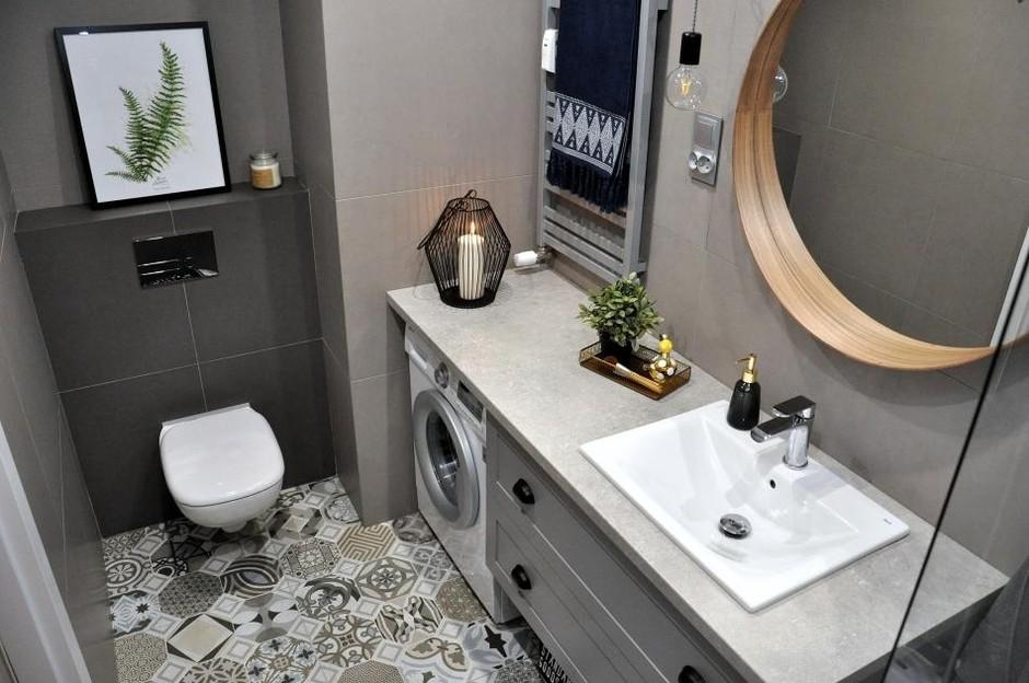 Galeria Zdjęć Zdjęcie Szara łazienka Z Małą Umywalką
