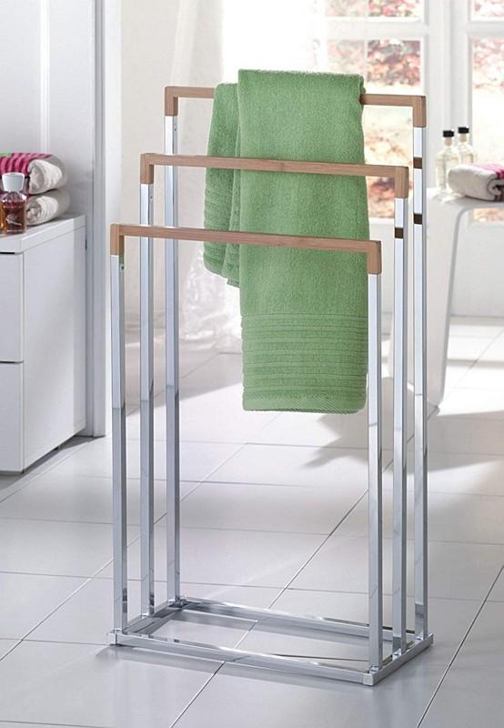 Wieszak Na Ręczniki Galeria Stojak łazienkowy Bamboo