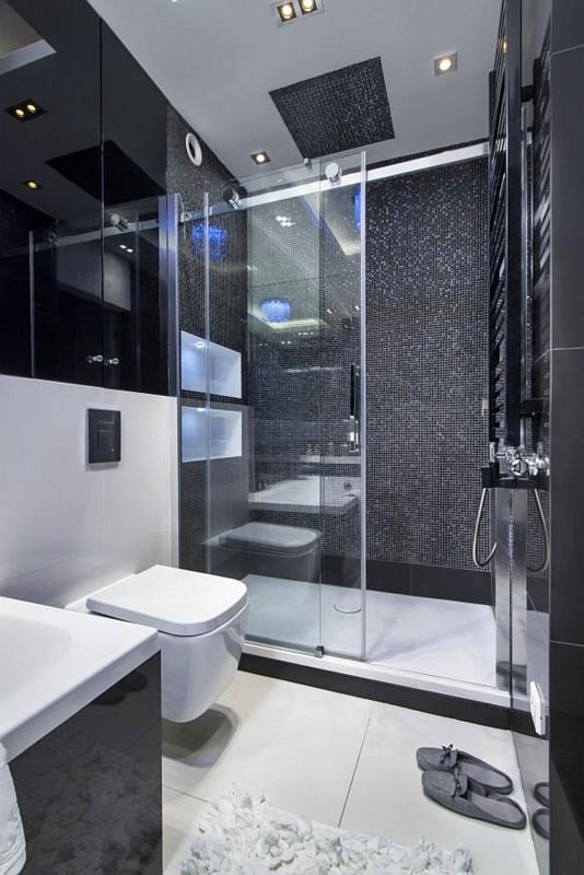 Galeria Zdjęć Zdjęcie Mała łazienka W Stylu Glamour Z
